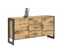 Sideboard Kommode Janne Regal Alteiche Metall graphitgrau B.167cm Schrank