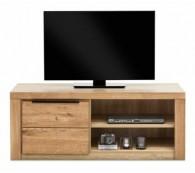 TV-Kommode TV Lowboard in Wildeiche geölt Teilmassiv Breite 130cm NEU