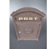 Briefkasten Wandbriefkasten rustikal braun Antik Stil Alu Guß H.45x B.31cm