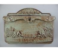 Briefkasten Wandbriefkasten rustikal Antik Stil Alu Guß Breite 32cm