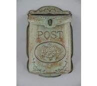 Briefkasten Wandbriefkasten rustikal Antik Stil Alu Guß Höhe 40cm