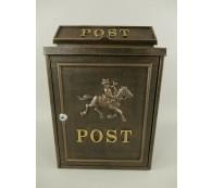 Briefkasten Wandbriefkasten rustikal braun Antik Stil Alu Guß H.41x B.29cm