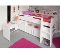 Parisot Swan 1 Kinderzimmer Hochbett 90x200cm mit Schreibtisch