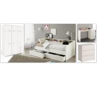 Kinderzimmer Jugendzimmer Sleep 20 Set 4-tlg. Schrank Bett Schreibtisch Kommode