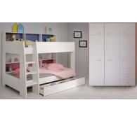 Etagenbett Tam Tam 12 Hochbett Kinderbett mit Kleiderschrank, Bettschubkasten